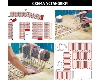 Купить Теплый пол на сетке MATRIX 75 Вт 0,5 кв.м в Москве